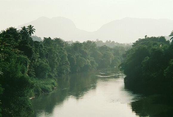 The Kalu Ganga, seen from Ratnapura
